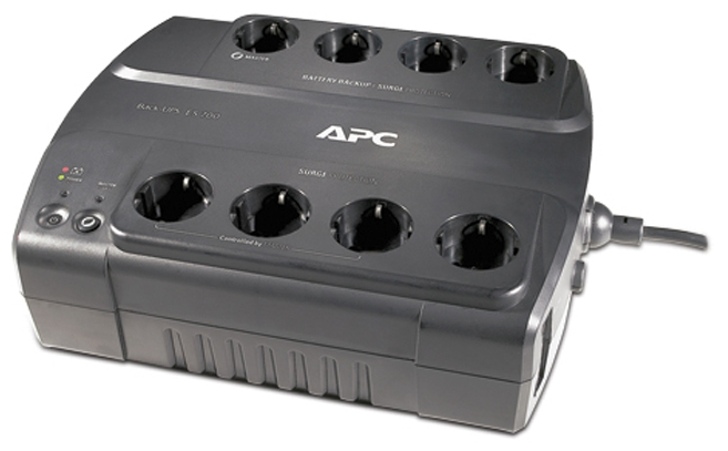APC by Schneider Electric Power-Saving Back-UPS ES 8 Outlet 700VA 230V CEE 7/7