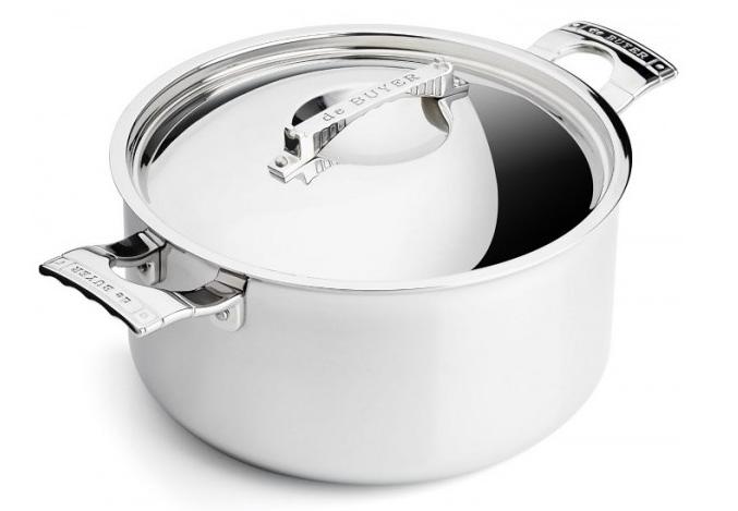 Посуда DE BUYER 3752.24 кастрюля с крышкой