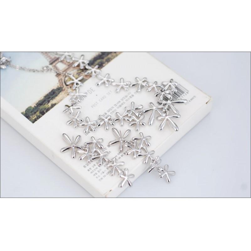 Комплект «Соцветия» со стразами Сваровски