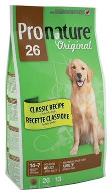 ProNature 26 Classic Recipe Chicken Formula для взрослых собак крупных пород (20 кг)
